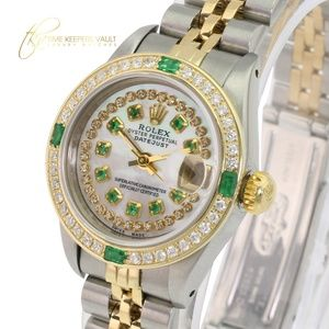 Rolex Lady Datejust White MOP Emerald 26mm-Quick